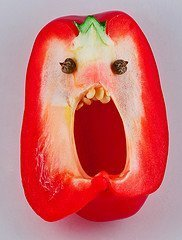 Nightmare looking red pepper