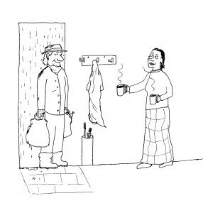 Image for the preface and introduction. Two women at a door.