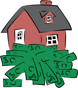 House with dollars