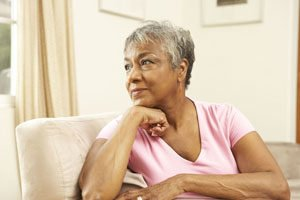 Senior Woman Contemplating Change
