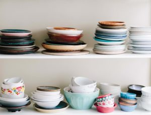 Dishes by Brooke Lark can't live with clutter
