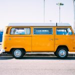 Moving Volkswagen bus