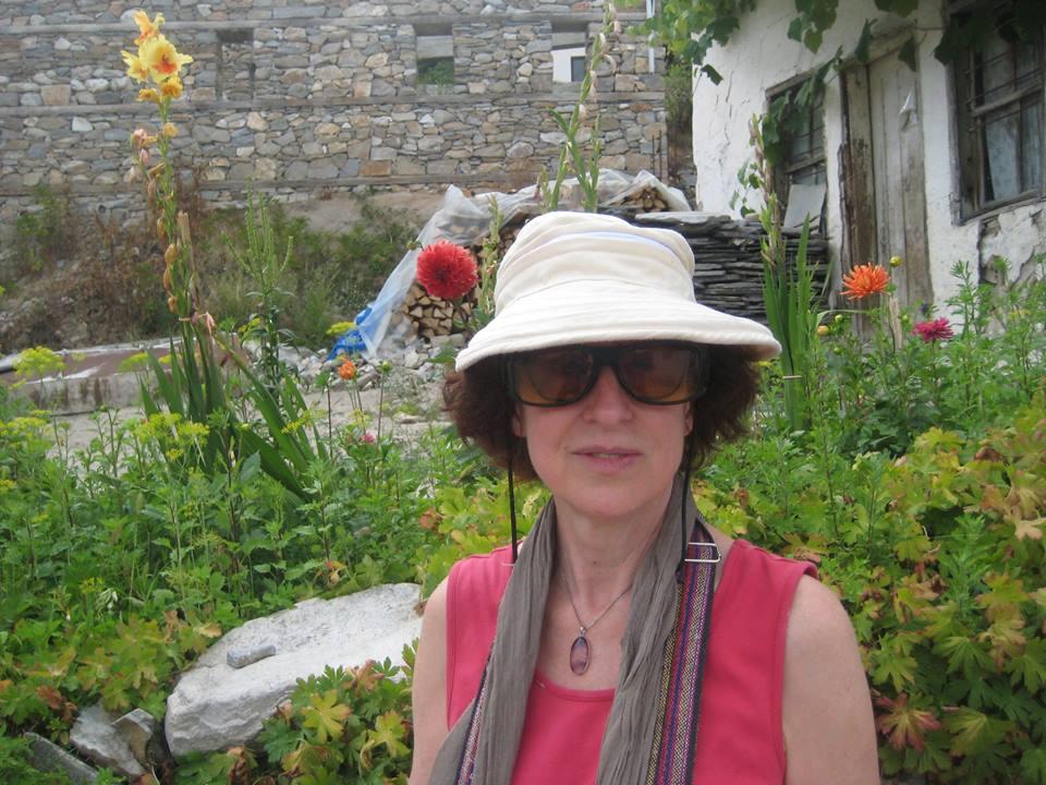 Judy In Her Garden